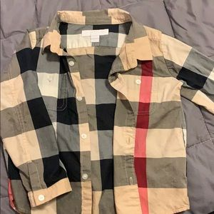 Toddler Boys Burberry Button Down